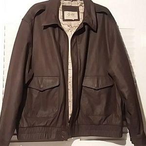 G-111 Authentic Leather Bomber Jacket
